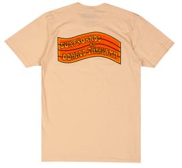 Donald Takayama T-shirts Orange Flag Logo / Cream
