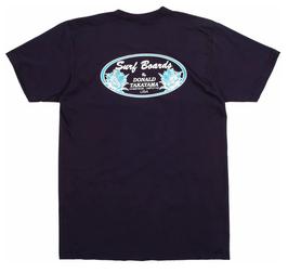 Donald Takayama T-shirts  Aqua Oval logo  / Navy