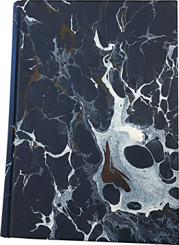 Marbled paper notebook/sketchbook Andrea