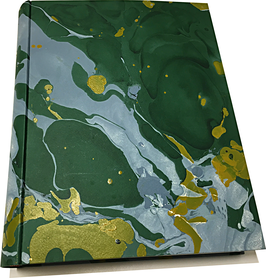 Marbled paper photo album - Nature