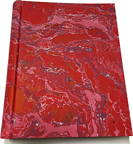 Marbled paper photo album - Emanuele