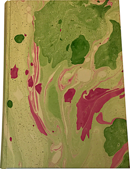 Marbled paper notebook/sketchbook Valentina