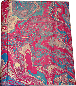 Marbled paper photo album - Aurora