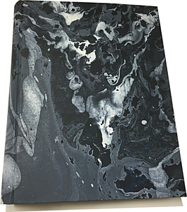 Marbled paper photo album - Moon