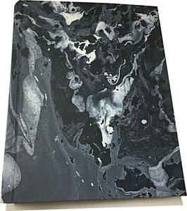 Marbled paper photo album - Moon