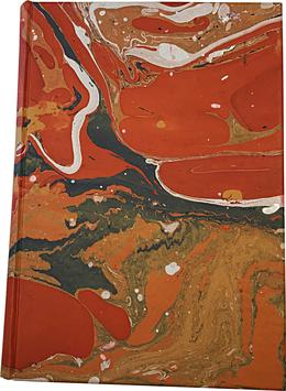 Marbled paper notebook/sketchbook Carmen