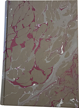 Marbled paper notebook/sketchbook Leonardo