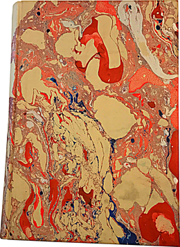 Marbled paper notebook/sketchbook Beatrice