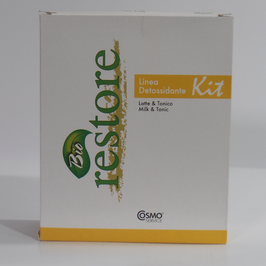 KIT ANTI-BACTERIAL BIORESTORE CHAMPÚ 250 ml. & TONICO 12 amp.