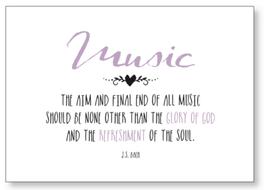 """Kunst-karte A6 """"music"""""""