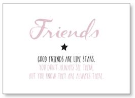 """Kunst-Karte A6 """"Friends"""" rosa"""