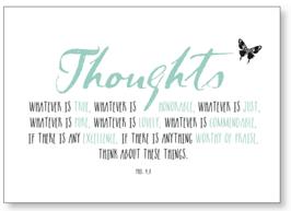 """Kunst-karte A6 """"thoughts"""""""