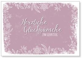 """Kunst-Karte A6 """"Glückwünsche"""""""