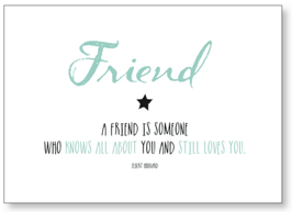 """Kunst-Karte A6 """"Friend"""""""