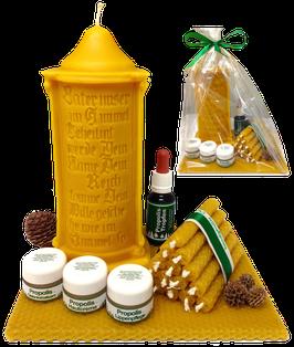 Geschenksverpackung - Wachsplatte und Cellophan