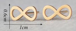 Boucles d'oreilles signe infini doré