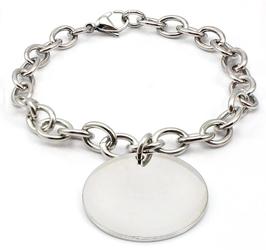 Bracelet avec médaillon à Graver