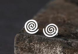 Boucles d'oreilles Spirale