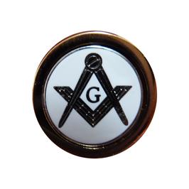 Pin's pour Franc-maçon , Blanc et Or avec ou sans G