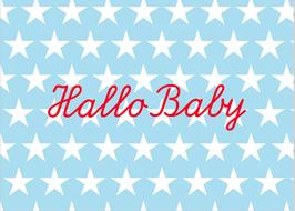 "Postkarte ""Hallo Baby"""
