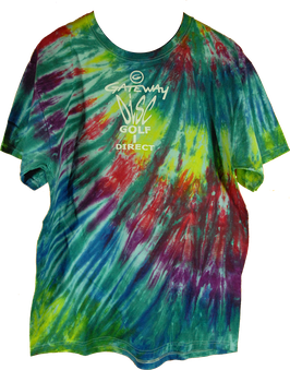 "Gateway TyeDye T-SHIRT ""Disc Golf Direct"""