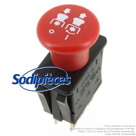Interrupteur à poussoir pour , MTD N° 725-3233, 725-1716