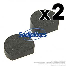 Plaquette de frein Ø 28 mm + méplat - Ep. 7,5 mm et 14 mm. Par 2