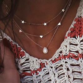 Halskette Star Heart