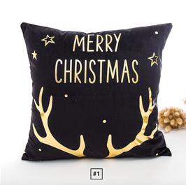 Weihnachtsdekoration Kissenbezüge Schwarz