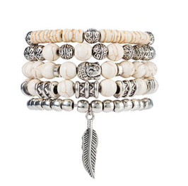 Armband Set White Buddha