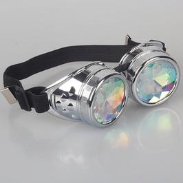 Fliegerbrille Steampunk Kaleidoskop