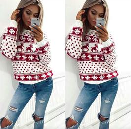 Pullover Rentier Schneeflocken