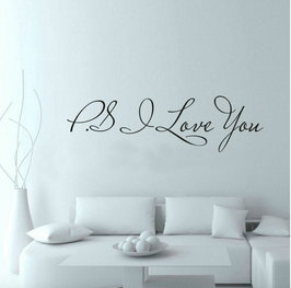 "Wand Tattoo ""P.S I love you"""