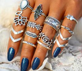 Ring Set Peace & Faith