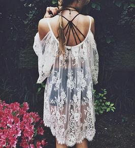 Kleid Spitzen