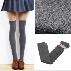 Overknee Socken grey