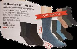 Socken mit Alpakawolle/ TOPARTIKEL