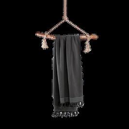 Hamamdoek antraciet - 100×180 cm