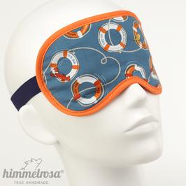 Rettungsringe, blau/orange – Schlafbrille