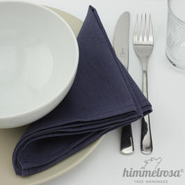 jeansblau – Serviette aus 100% Leinen