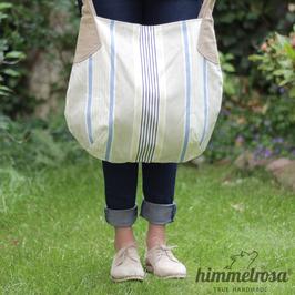 gestreift beige, helles gelb & blau – Sommertasche