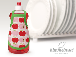rosa und rote Äpfel mit grünem Schrägband – Spülischürze