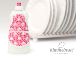 Shabby Charme - stilisierte Seerosen auf pink – Spülischürze