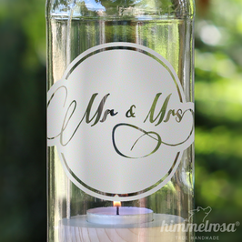 Mr. & Mrs. - Windlicht