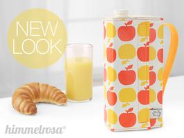 Kanne, Apfel in orange/gelb – breit