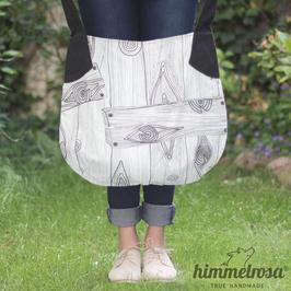 Holzdekor schwarz/weiß – Sommertasche