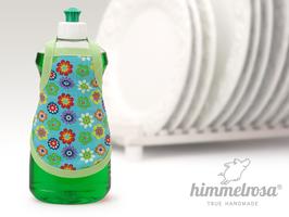 bunte Blumen auf türkis. grün – 70er Jahre Look - Spülischürze