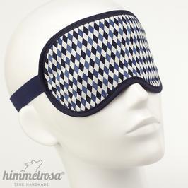 Rautenmuster, blau/dunkelblau/weiß – Schlafbrille