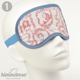 Auswahl mit maritimen Illustrationen, rot/weiß/blau – Schlafbrille