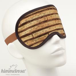 Maßband, braun/hellbraun – Schlafbrille